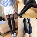 Sexy Women Girls Tights Wave Pattern Mock Knee High Hosiery Pantyhose Stockings Panty Tattoo Tights