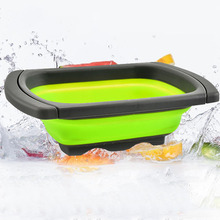 Buy Drain Basket adjustable Collapsible Colander Sink Washing Fruit Vegetable Strainer Plastic Drainer Baskets kitchen accessories directly from merchant!