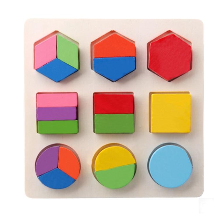 Aocoren Baby Kids Wooden Learning Geometry Educational Toy ...
