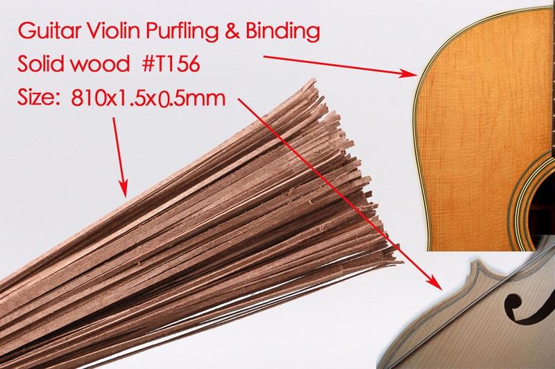 50x bande de guitare bois Purfling reliure pièces de corps de guitare incrustation 810x1.5x0.5mm 156 #