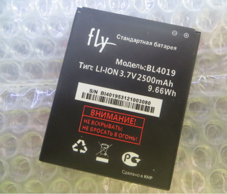 High Quality For FLY BL4019 New Mobile Phone Lithium Original 2500mAh manufacturers spot direct foreign trade Battery Replace