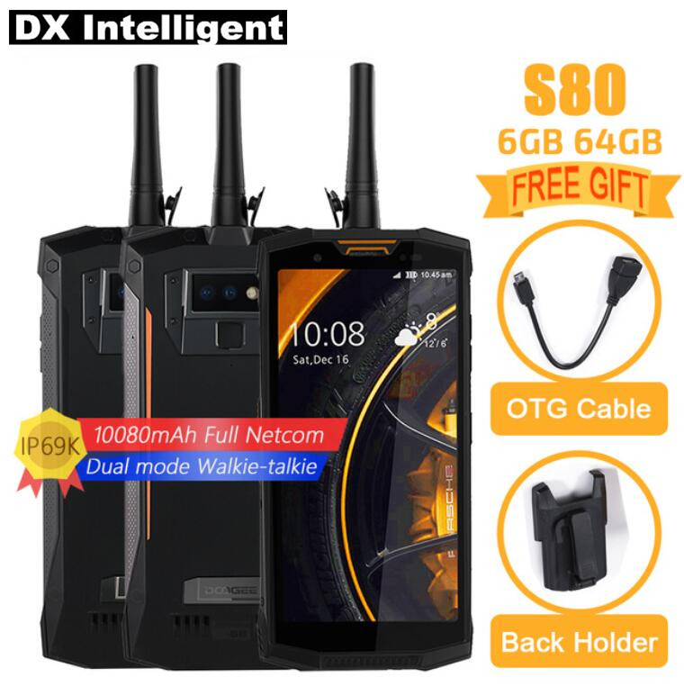 "DOOGEE S80 IP68 IP69K Walkie-Talkie SmartPhone 5.99""FHD MTK6763T Octa Core 10080mAh Wireless charger 16MP 12MP Dual Cam OTG NFC"