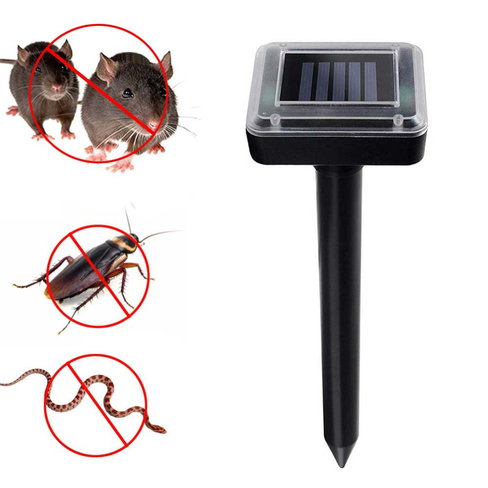New Solar Powered Ultrasonic Sonic Mouse Mole Pest Rodent Repeller Repellent Control for Garden Yard FP8