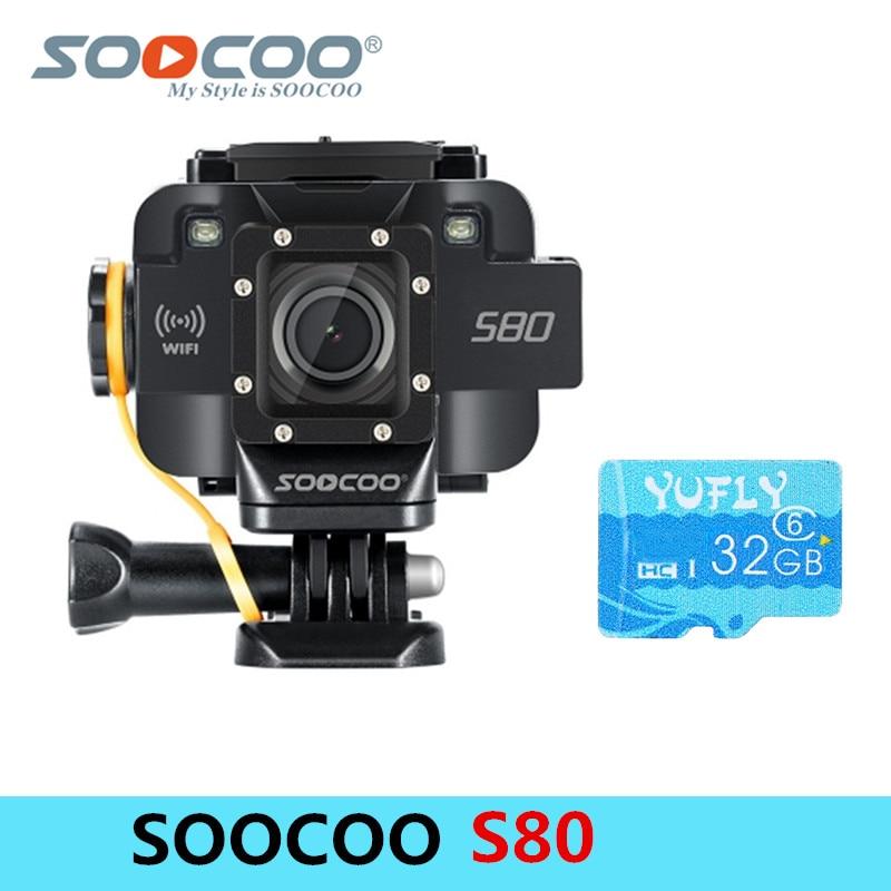 SOOCOO S80 Wifi 1080 P 20 M Action Étanche Caméra 1.5 Écran Vidéo Starlight Nuit Aide à la Vision Microphone DV sport Caméra