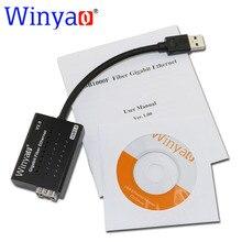 Winياو USB1000F USB3.0 إلى SFP 1000M ألياف جيجابت نيك إيثرنت بطاقة الشبكة لأجهزة الكمبيوتر المحمول rtl8153 شرائح محول وسائط