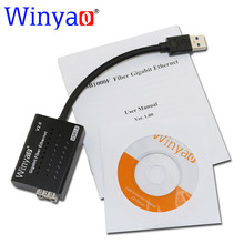 Winyao usb1000f usb3.0 zu sfp 1000 mt gigabit fiber nic ethernet netzwerkkarte für pc notebook rtl8153 chipset für media konverter