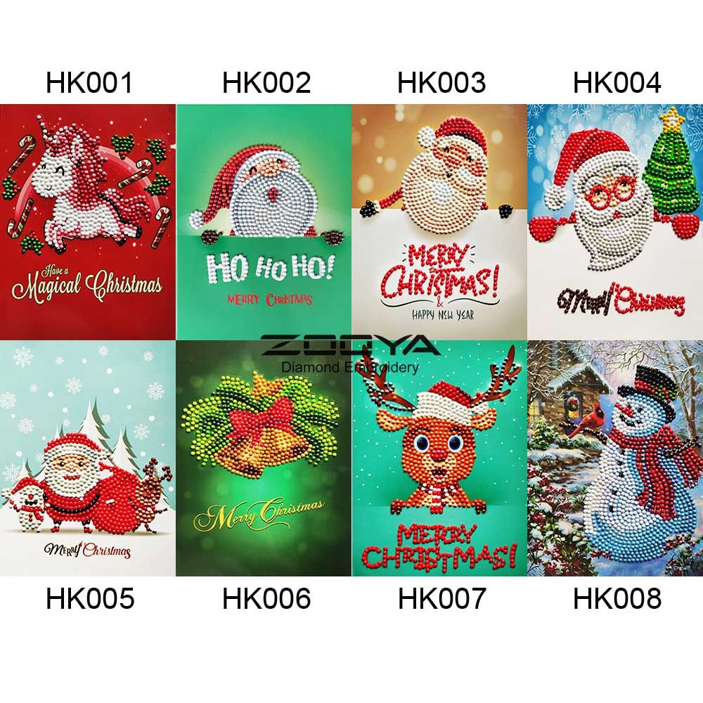Christmas Greeting Cards Images.Us 6 7 48 Off Zooya Diamond Painting Christmas Greeting Cards Halloween Paper Greeting Postcards Craft Diy Kids Festival Greet Cards Gift Hk In