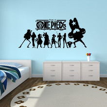 цены New arrival One piece Japanese Anime Wall Decal Stickers Decor Stickers Vinyl Decal Cartoon Home Decor waterproof wallpapper