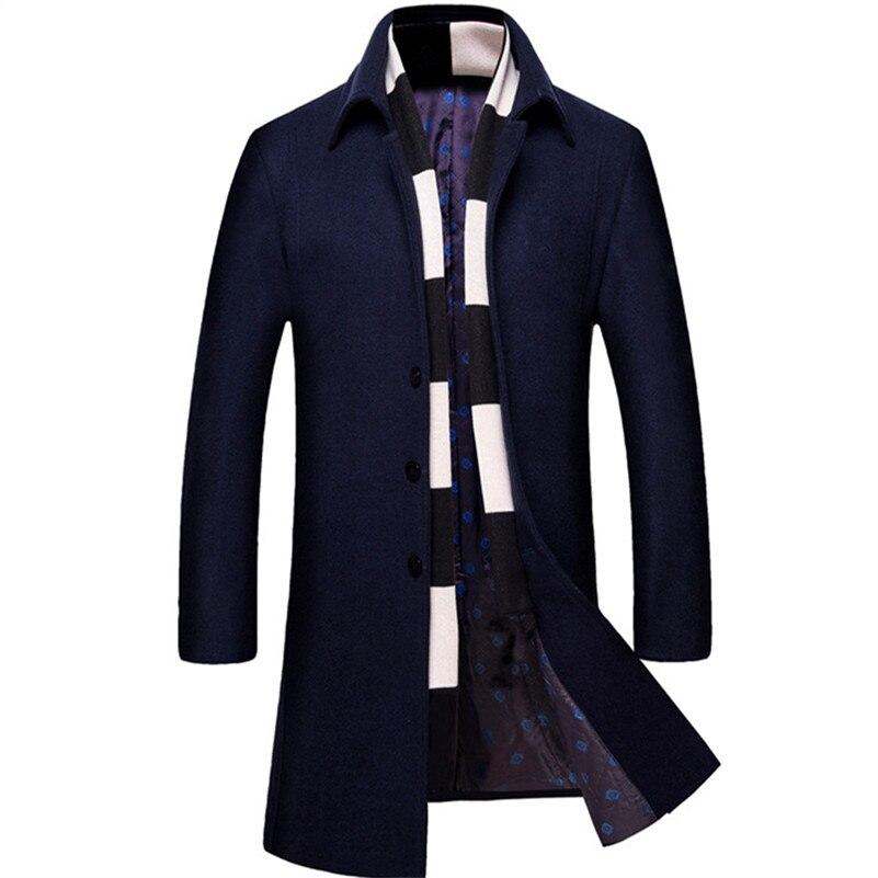 Business US130 Windbreaker Jacke Plus Mantel Männer Graben Wolle 0Miacawor Langen Herren Qualität Größe Top Mantel XXXL Graben 0nPwOk