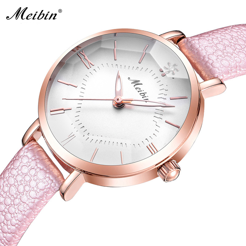 Fashion Women Watches Luxury Dress Leather Ladies Watch Women Three-dimensional cut glass Dial Window clock relogio feminino