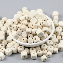 JHNBY 100pcs 8/10mm Square Wood Beads Spacer Loose Beads for Jewelry Making DIY Eco-Friendly Wooden Necklace&Bracelet Findings