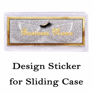 Image 2 - Autocollants transparents Design et imprimés pour étui coulissant, autocollants clairs rectangulaires sur le dessus de la couverture