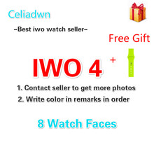 Celiadwn Bluetooth Smart Uhr iwo 4 smartwatch 42mm kleiner IWO 1 version fall für iOS Android telefon VS IWO 3