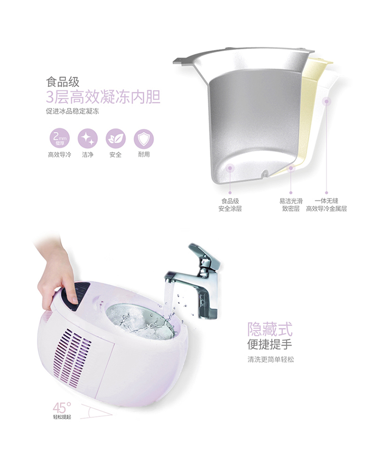 Ice Cream Machine Household Small-sized Ice Cream Machine Children Self-control Ice Cream Machine Fully Automatic Dessert 19