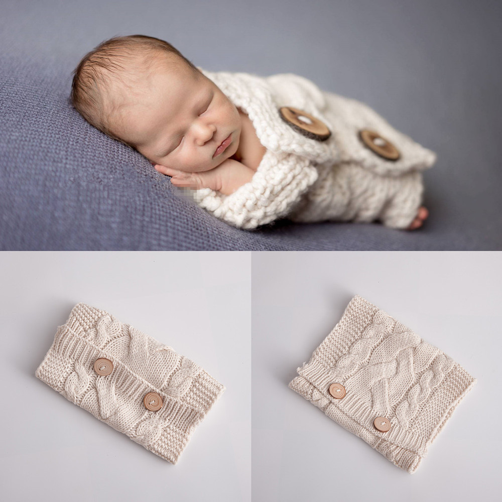 Newborn Photography Props Baby Photography Clothing Studio Baby Photo Blanket Photography Babies Accessories Knit Photo Prop