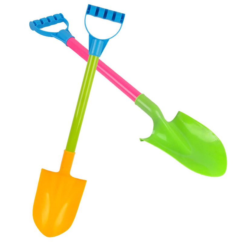 QICSYXJ Birthday Gift Classic Toys Supply 36cm Plastic Shovel Childrens Sand Playing Tools 2 In 1