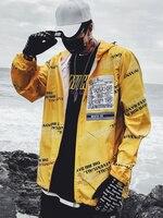 Sunscreen Streetwear Mens Jackets Coats Summer Hip Hop Bomber Anorak Jacket Punk Rave Pilot Ultra Lightweight Jacket Clothes 5J9