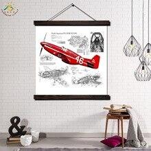 купить!  Fight Flighter Панель Современные Wall Art Печать Поп-Арт Картина И Плакат Твердого Дерева Висит  Лучший!
