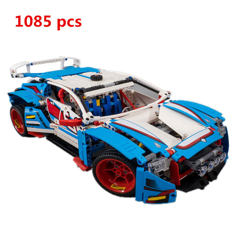 2018 New Lepin 20077 1085Pcs Series The Rally Car Set 42077 Building Blocks Bricks Educational Boy's Legoings Toys Cool Gifts lepin 20077 genuine technic series the rally car set 42077 building blocks bricks educational funny toys as children gifts