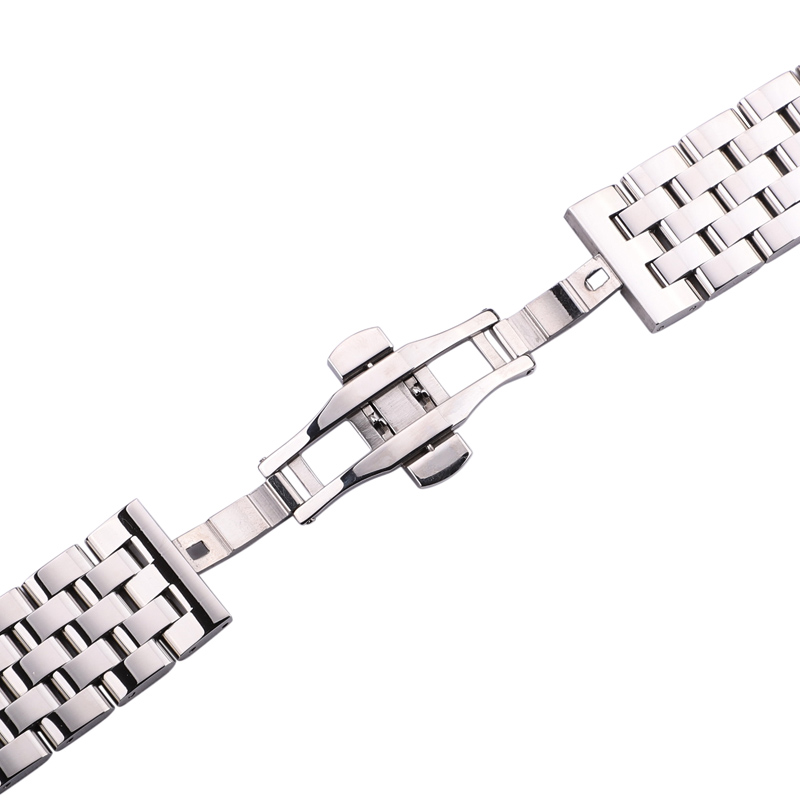 Solid Metal Watchabnds Bracelet Silver Black Rose Gold Men Women 316l Stainles Steel Watch Band Strap 20mm 22mm 24mm 26mm