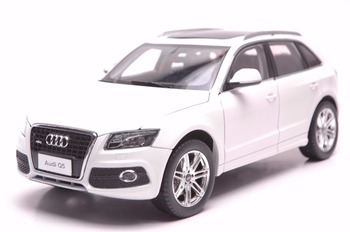 1:18 Diecast Model for Audi Q5 2013 White SUV Alloy Toy Car Miniature Collection Gifts image