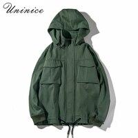 Sonbahar kış Japon erkek rahat gevşek ceketler erkek cep rahat ceket genç hip hop Takım bombacı out palto