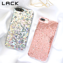 LACK Shining Powder Sequins Phone Case For iphone 7 Case For iphone 7 Plus Cases Fashion Glitter Bling Back Cover Lovely Coque