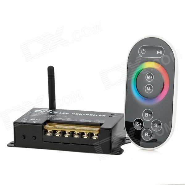 ФОТО 2.4GHz Wireless 3-CH  RGB LED Controller Touch RF Remote Control   for Strip Light Module (DC 12V/24V)
