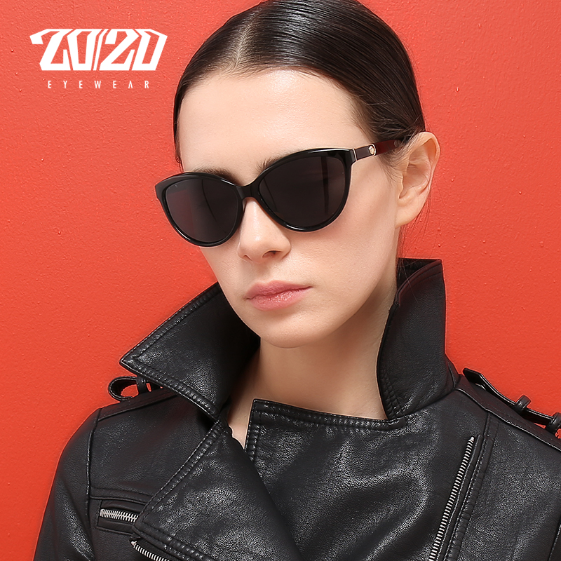 20/20 Brand Design Cat eye Women Sunglasses Polarized Female Sun Glasses Vintage Style Shades Glasses Feminino Oculos PL338