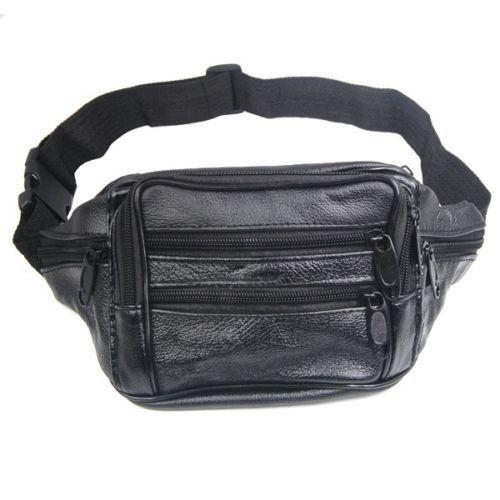 Comercio al por mayor 5*100% bum bolsa con 7 bolsillos de cintura cartera de cuero