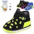 2016 Рождественский Подарок Зима детская Обувь Малыша Ботинки младенца Теплые Кролик Мальчики Девочки Хлопок 1-3 года дети Звук