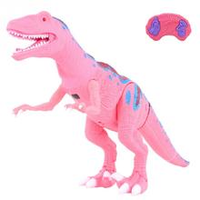 RC Walking Dinosaur Toy with Shaking Head Light Up Eyes and Sounds Walking Robot