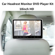 10.1'' HD Car Headrest Monitor DVD Player Kit USB/SD/HDMI/FM/Game TFT LCD Screen threecar headrest dvd player 10 1 inch hd wide headrest monitor usb sd luxury leather wrapped portable dvd media player