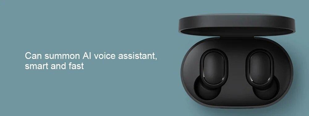 Original Xiaomi Redmi Airdots TWS Bluetooth Earphone Stereo bass Bluetooth 5.0 Eeadphones With Mic Handsfree Earbuds AI Control (9)