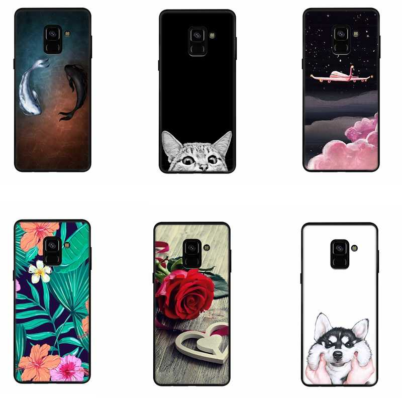 Cute Cartoon Pattern Phone Case For Samsung Galaxy J4 J6 EU A8 A6 Plus 2018 S9 S8 Note 8 9 J5 A3 A5 A7 J7 J3 2017 Silicone Cover