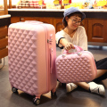 Women Luggage Set,Girl Carry-Ons gift,Wearable Diamond design Suitcase,Lightweight ABS Travel Box,Universal wheel Trolley case