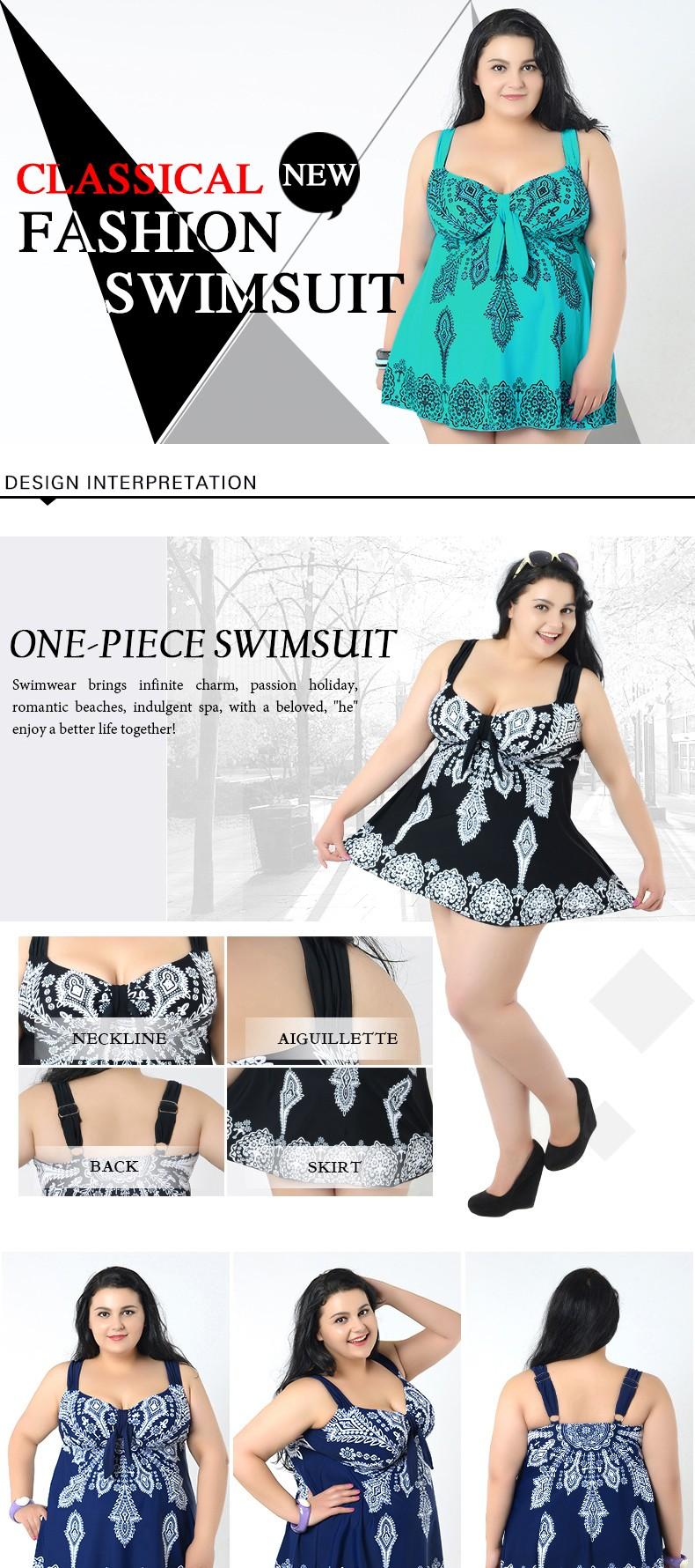 Sexy 10XL Bodysuit plus size swimwear One Piece Swimsuit print women swimming suit sweet Bathing Suit beach suit for women 2