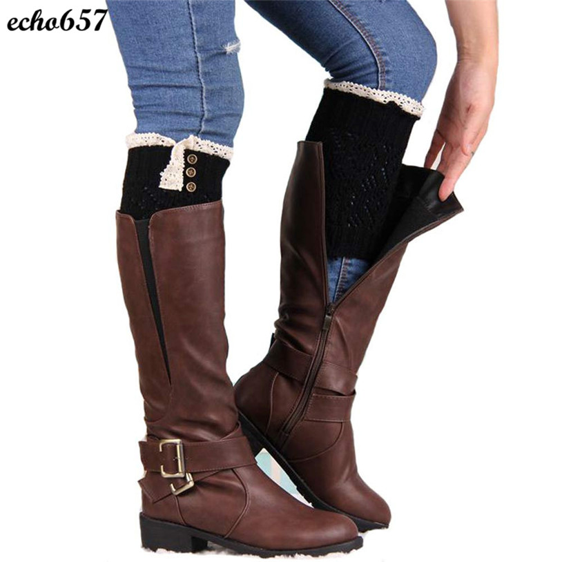 Hot Sale Echo657 New Fashion High Quality Casual Women Lace Stretch Winter Leg Warmer Cuffs Boot Nov 24