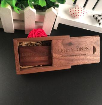 OEM ODM Personalized DIY LOGO Natural Wooden usb and Wooden box 2.0 memory flash stick pen drive (20 pcs,free logo fee)