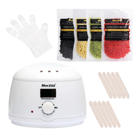 Epilator Wax Heater Pot Set Brazilian Wax Machine Kit Hot Film Pellet Waxing Bikini Hair Removal