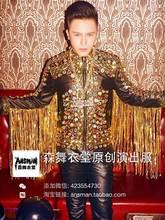 2016 новый бар ночном клубе певица DJ сценические костюмы мужской личности мужская дворец в стиле барокко мотоцикл кожа ( куртка + брюки ) костюм