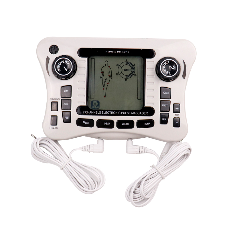 Elektrischen Impuls Zehn Akupunktur Therapie Massager Dual Channel Digital EMS Muscle Stimulator 12 Modi Entspannen Massage Maschine