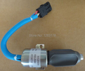 Fuel Shutdown Solenoid Valve 332/J5060 its for JCB excavator, 24V stop solenoid