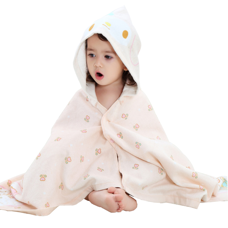 Kids Hooded Bathrobe 2018 Toddler 100% Cotton Bathrobe Baby Boys Girls Spring Animal Bath Towel Children Beach Shawl 0-6 Year