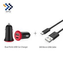 USB 2.0 Universal Dual Ports Fast Travel Charger Adapter+1M Micro Cable For Mobile Phones Xiaomi Redmi Note 4/4X uawei P8
