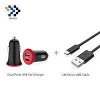 WMZ Universal Dual Ports USB Schnelle Auto Ladegerät Adapter + 1 M Micro USB Kabel Für Handys Xiaomi Redmi note 4/4X uawei P8