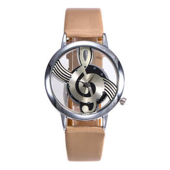 2019 Women Fashion Leather Stainless Steel Musical symbol watch Ladies Gifts Clock High Quality Relogio Feminino Wristwatches