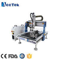 High Precision China 3 axis 4 axis 5 axis cnc milling machine 9060 wood cnc router 6090 with cheap price