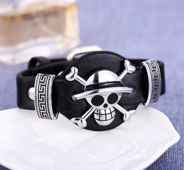One Piece Luffy The Straw Hat Unusual Pirates Leather Bracelet