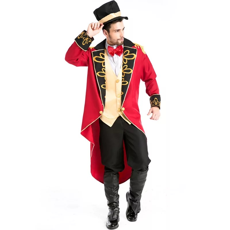 Image 4 - Halloween Vampire Magician Ringmaster Costume Male Circus Leader Tuxedo Jacket Vintage Tailcoat Fancy Dress Outfit For Men Hat-in Game Costumes from Novelty & Special Use
